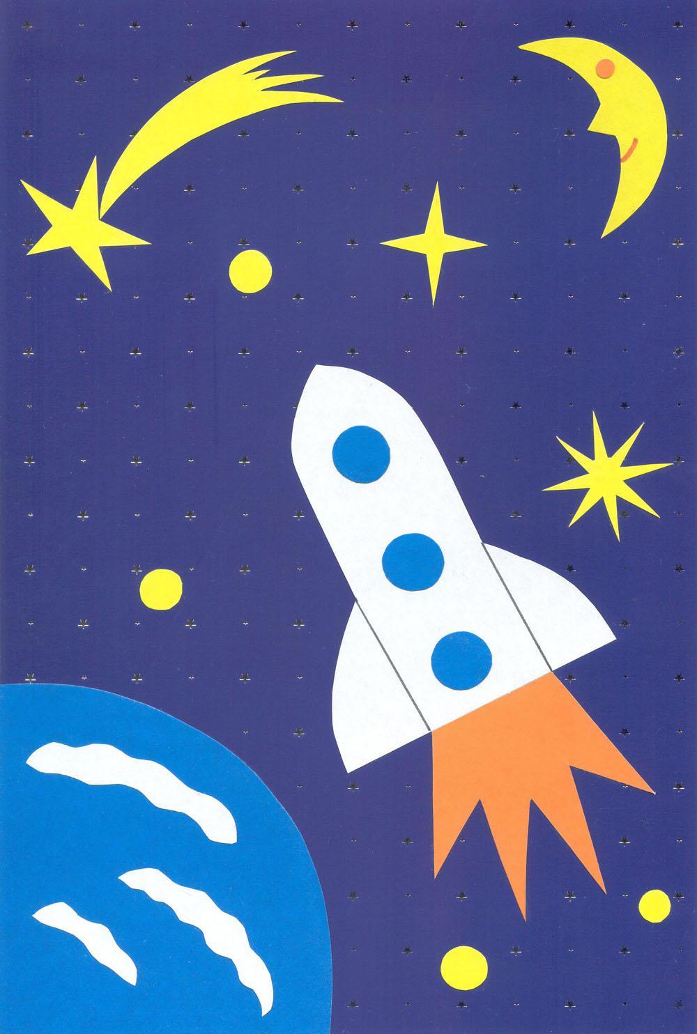 Поделка в детском саду ко дню космонавтики
